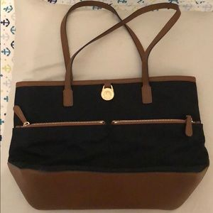Black and Tan Michael kors tote